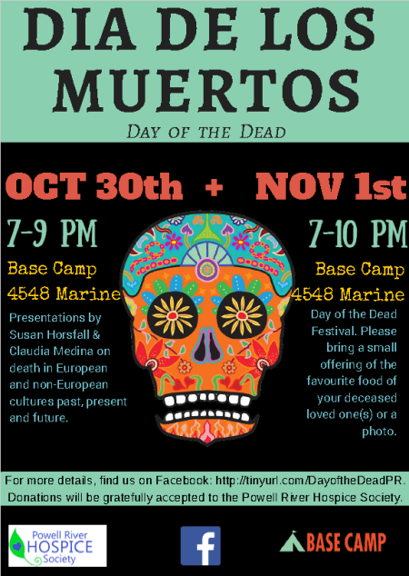 Join us for 2 Day of The Dead events at Base Camp
