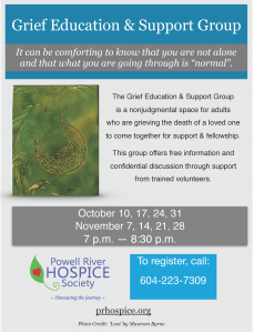 Powell River Grief Group poster